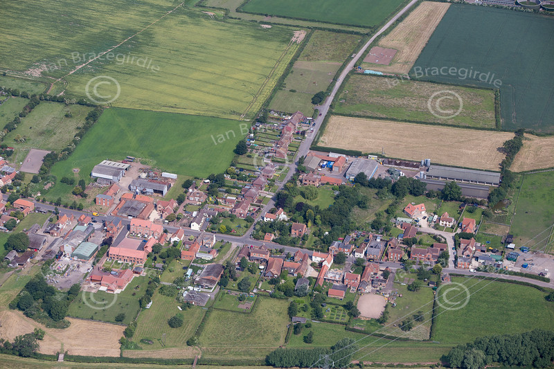 Aerial photo of Laneham.