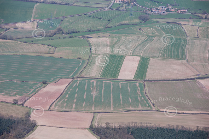 Aerial photo of Laxton.