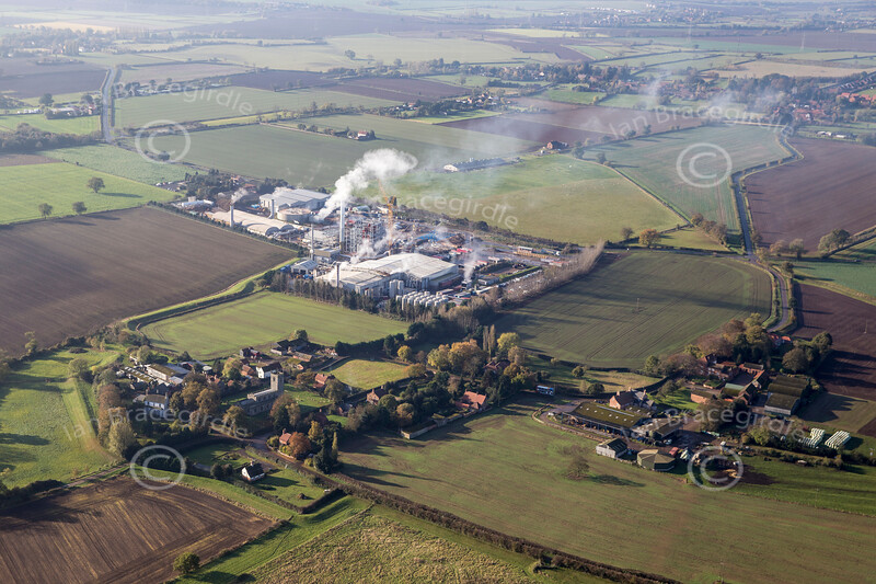 Aerial photo of Low Marnham.