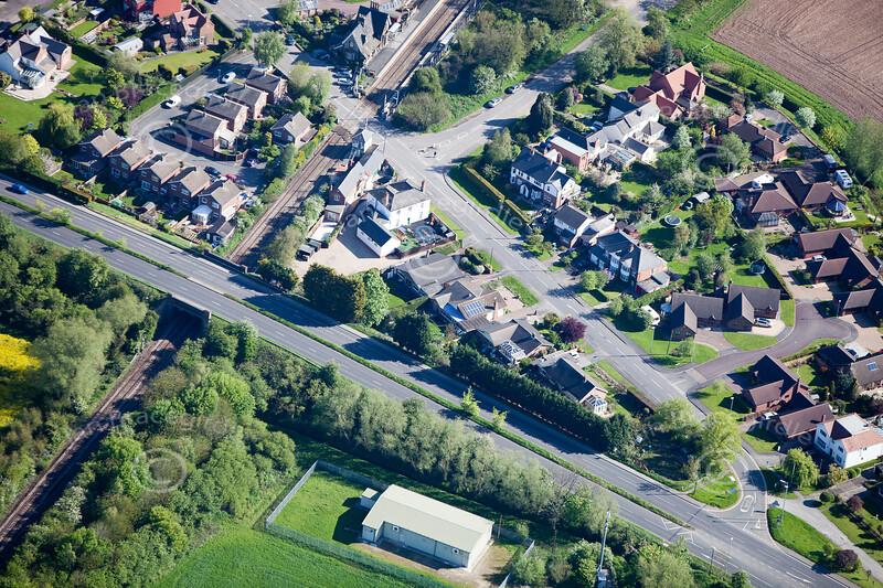 Aerial photo of Lowdham.