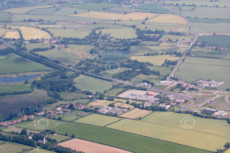 Aerial photo of Milton and Sibthorpe.