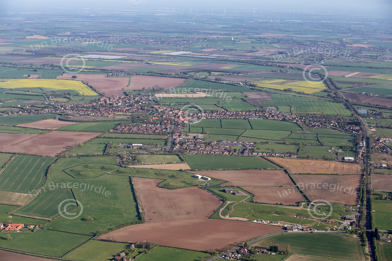 An aerial photo of Misterton in Nottinghamshire.