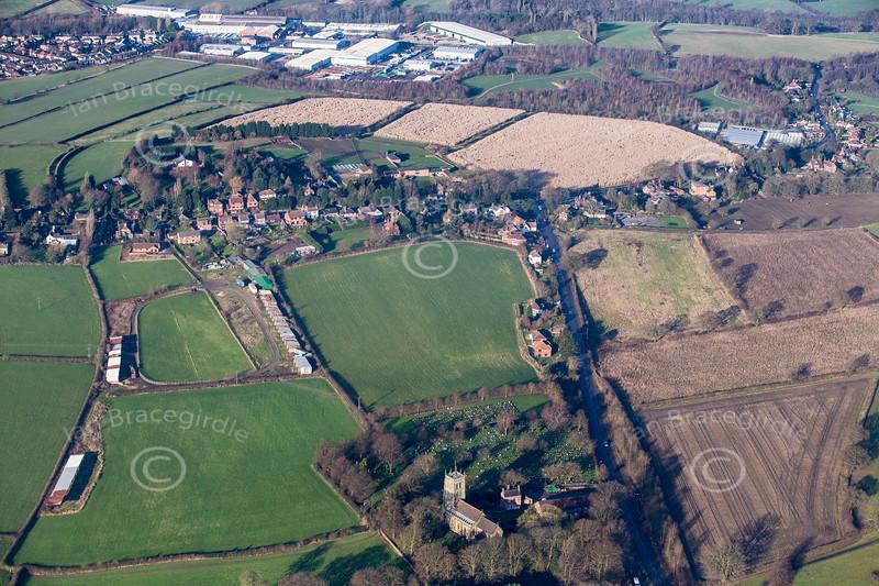 Aerial photo of Moorgreen.