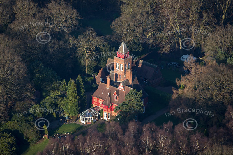 Aerial photo of Beauvale House.