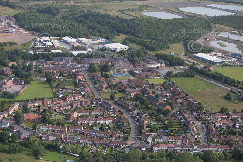 Aerial photo of Newstead Village.