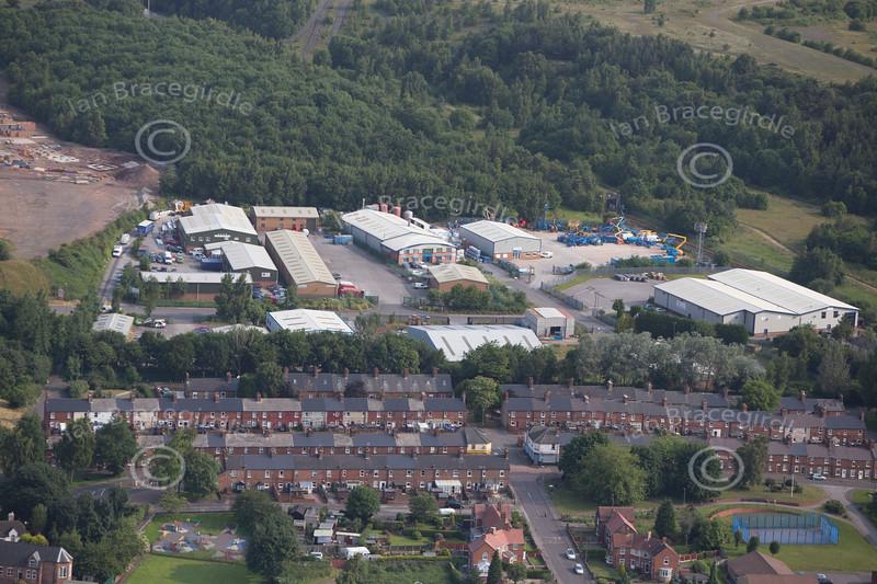 Aerial photo of Newstead Village.