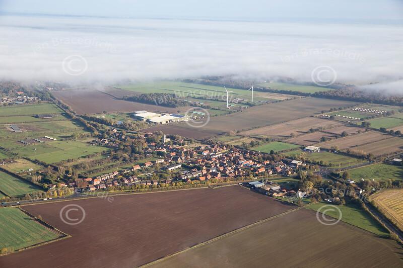 Aerial photo of Newton on Trent.