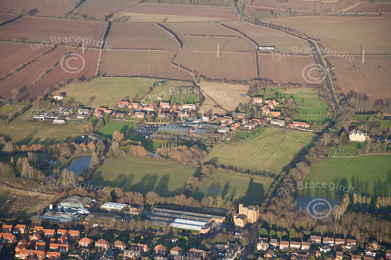 An aerial photo of Normanton.