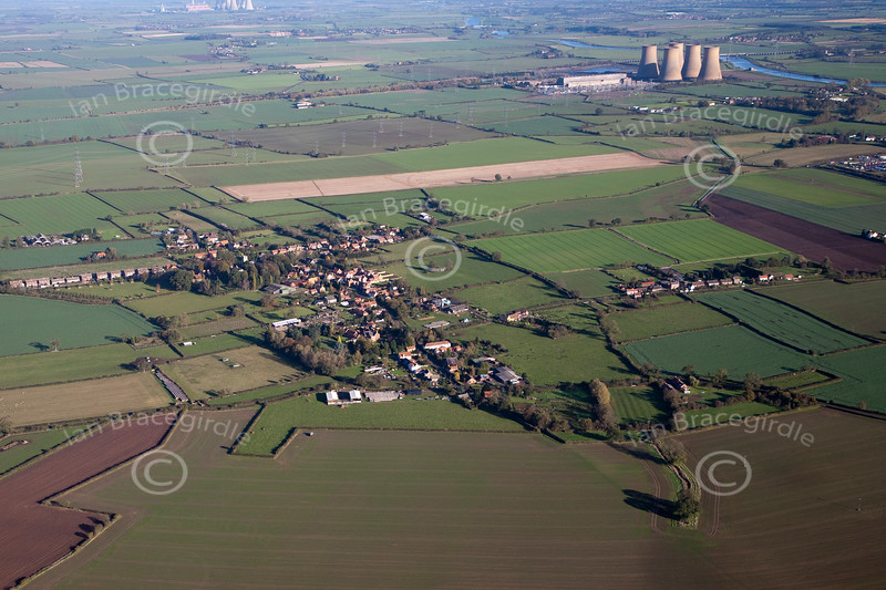 Aerial photo of Normanton on Trent.