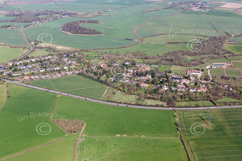 Aerial photo of Normanton on the Wolds.