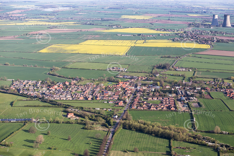 Aerial photo of North Leverton.