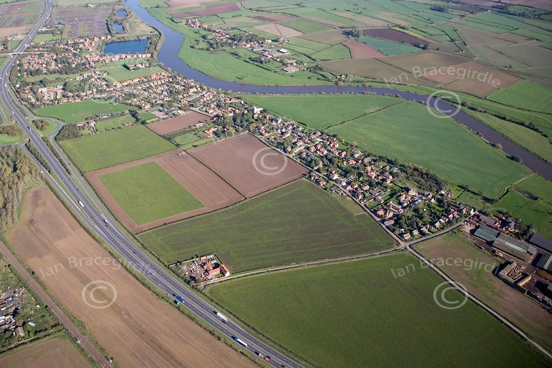 Aerial photo of North Muskham.