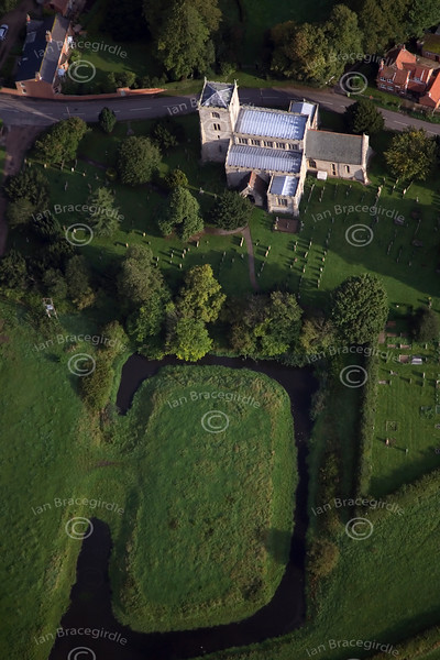 Aerial photo of Norwell Church.