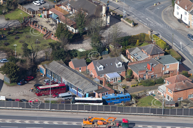 Aerial photo of Nuthall.