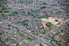 Aerial photo of Ollerton in Nottinghamshire.