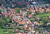 An aerial photo of Ollerton in Nottinghamshire.