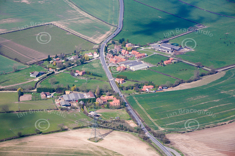 Aerial photo of Ompton.