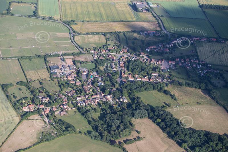 Aerial photo of Orston.