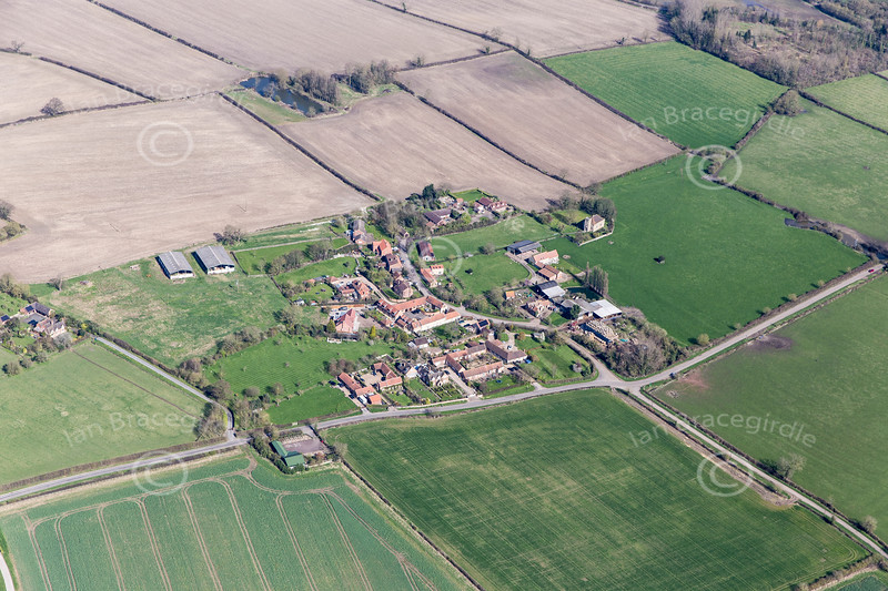 Aerial photo of Owthorpe.