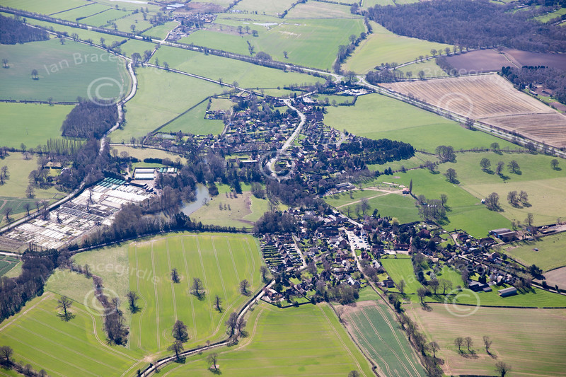 Aerial photo of Oxton.