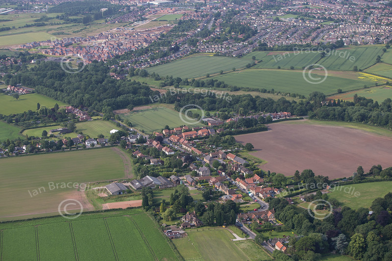Aerial photo of Papplewick.