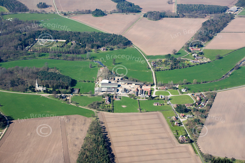 Aerial photo of Perlethorpe.