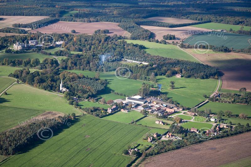 Aerial photo of Perlethorpe.