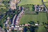 Aerial photo of Pleasley near Mansfield in Nottinghamshire.