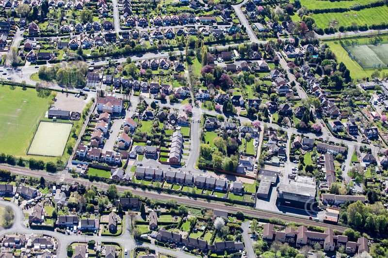 Radcliffe on Trent from the air.