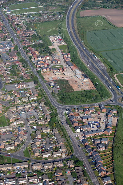 Aerial photo of Rainworth.