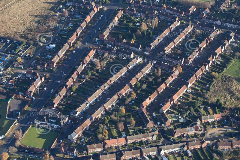 Aerial photo of Rainworth.