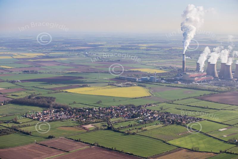 Aerial photo of Rampton.