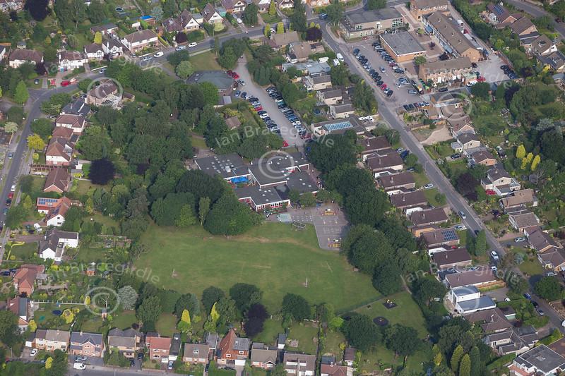 Aerial photo of Ravenshead.
