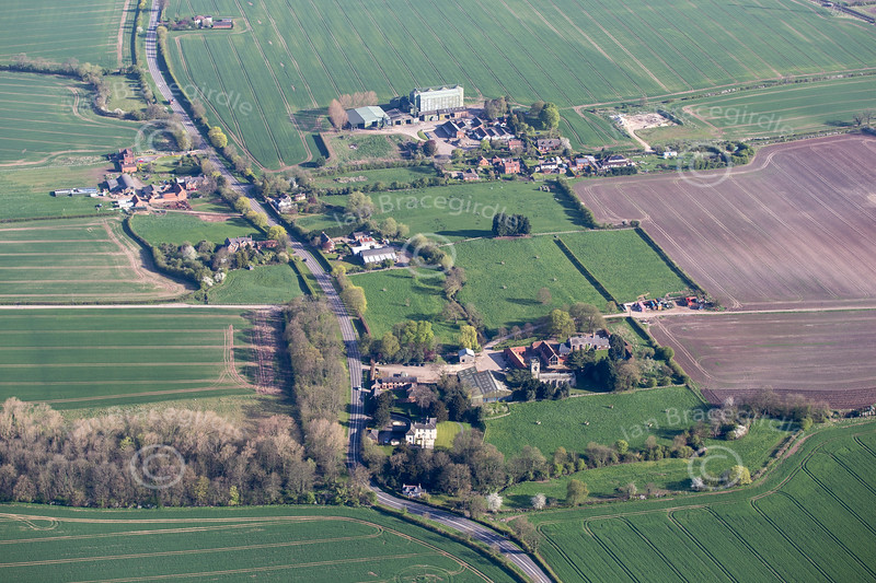 Aerial photo of Saundby.