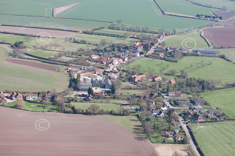 Aerial photo of Screveton.