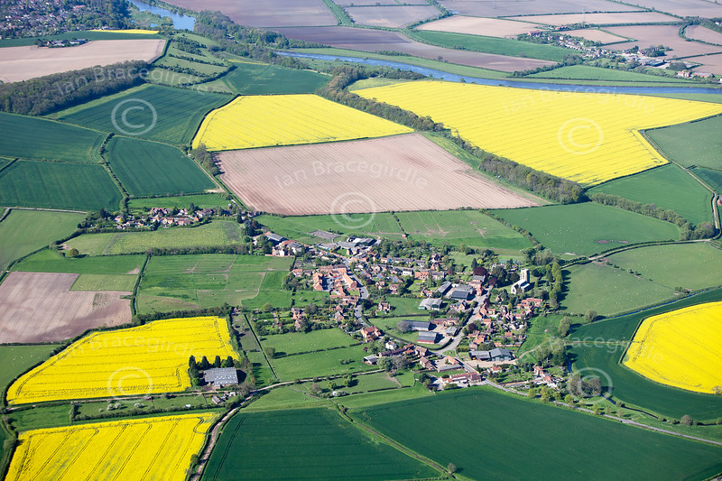 Aerial photo of Shelford.