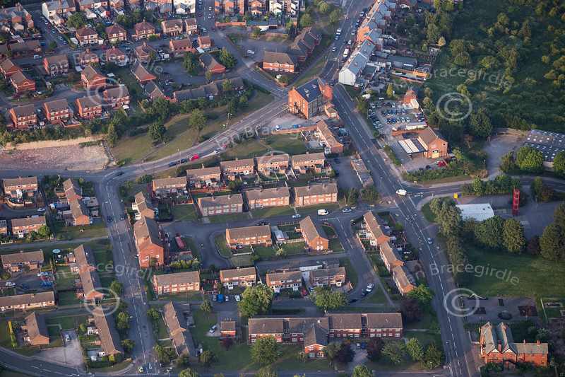 Aerial photo of Shirebrook.