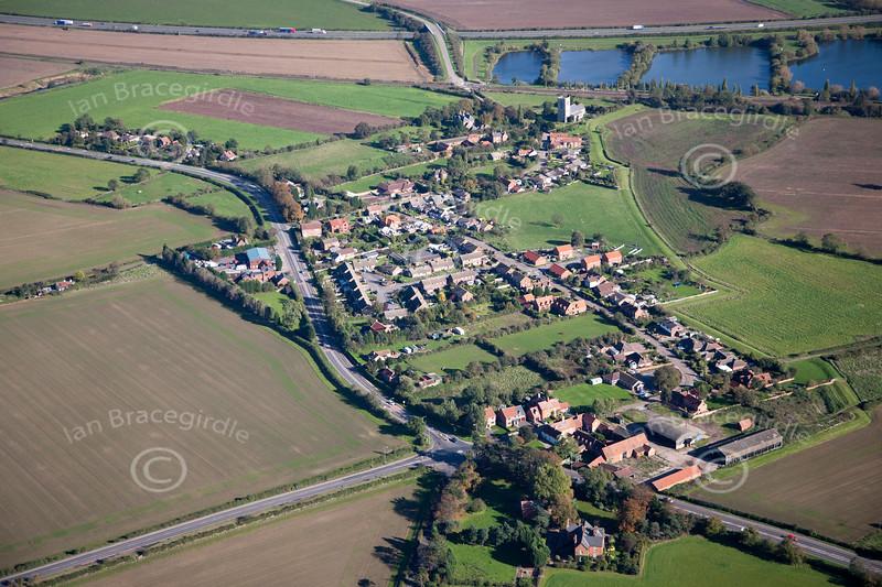 Aerial photo of South Muskham.