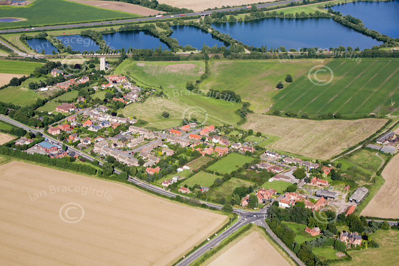Aerial photo of South Muskham.