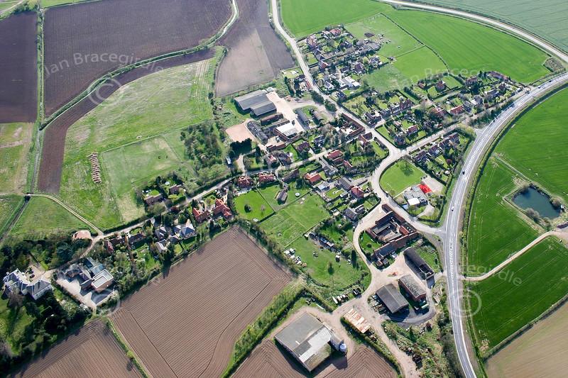 Aerial photo of Staythorpe.