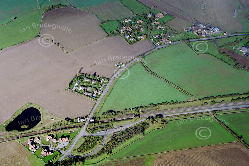 Aerial photo of Staythorpe.