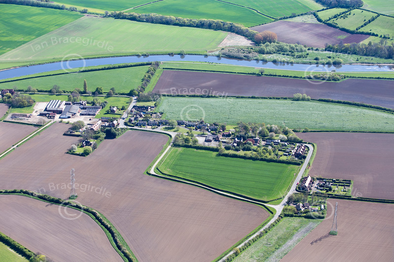 Stoke Bardolph in Nottinghamshire from the air.