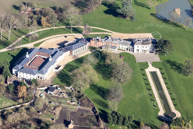 Aerial photo of Stubton Hall.