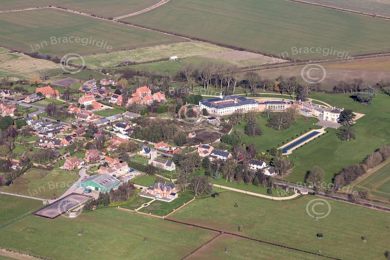 Aerial photo of Stubton.