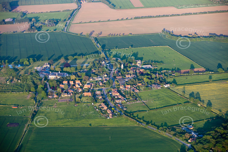 Aerial photo of Stubton.