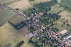 Aerial photos of Thoroton near Bingham in Nottinghamshire.