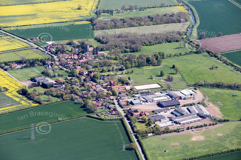 Thoroton from the air.
