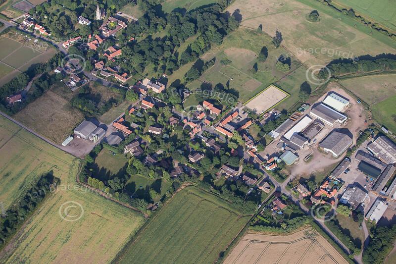 Aerial photos of Thoroton near Bingham in Nottinghamshire.