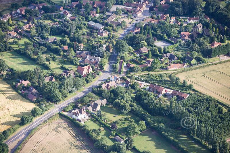 Aerial photo of Thurgaton.