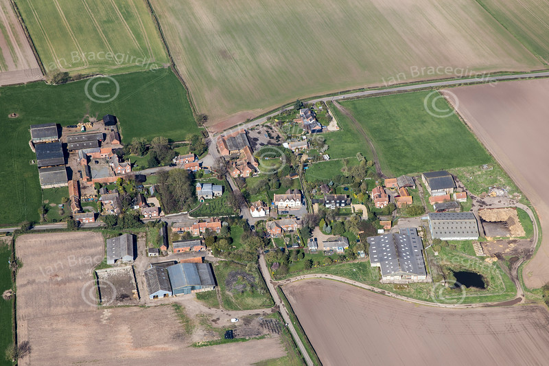 Aerial photo of Tithby.
